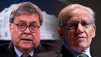Stephen Colbert pushes Bob Woodward to admit Bill Barr cooperated for new book