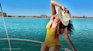 Priyanka Chopra is all smiles in a yellow bathing suit: 'Perfect day off'