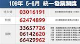 統一發票5-6月完整中獎清冊 花2元影印中200萬