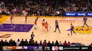 Anthony Davis with an alley oop vs the Phoenix Suns