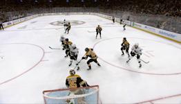 Timo Meier with a Goal vs. Boston Bruins