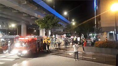 台北地下街停車場 配電盤起火冒大量黑煙
