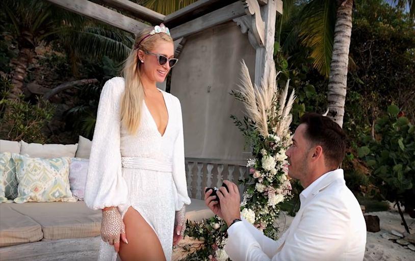 Watch: Paris Hilton Tries on Wedding Dresses in Paris in Love Trailer
