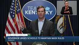 Gov. Beshear urges schools to maintain mask rules