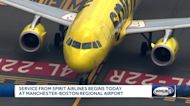 Service from Spirit Airlines begins Thursday at Manchester airport