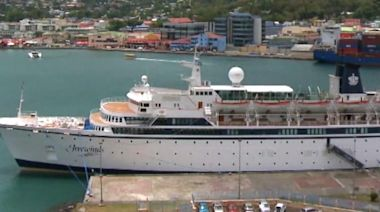 Scientology-owned cruise ship remains docked, quarantined