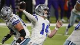 Streak stop: Dalton's 3 TDs lift Cowboys past Vikings 31-28