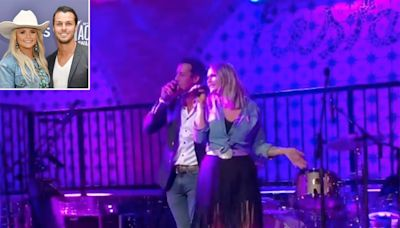 Miranda Lambert Performs Grease Duet with Husband Brendan McLoughlin: 'Just Call Us Danny and Sandy'
