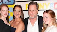 Brooke Shields hits the red carpet with her husband and daughters