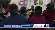 APS teacher uses music to teach students importance of wearing a mask