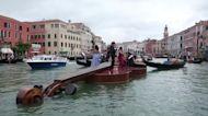Giant violin brings Vivaldi to Venice canal