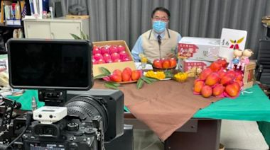 黃偉哲視訊行銷台南芒果,外銷量破記錄 青森知事跨海以Q圖大讚台南芒果--上報