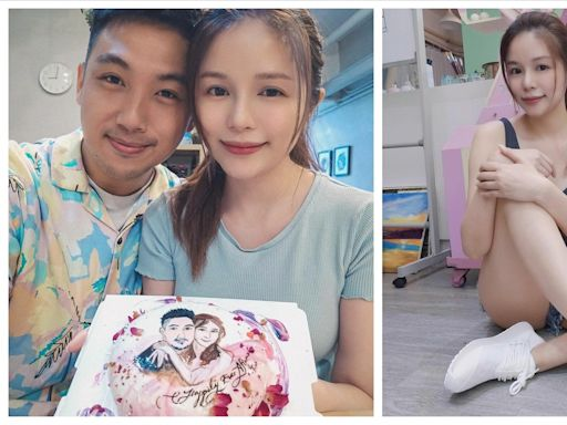 陳潔玲與畫家男友正式拉埋天窗 捧兩公婆公仔蛋糕慶祝