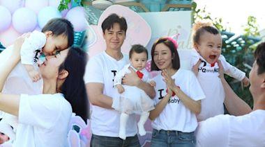 楊茜堯與小珍珠額貼額慶祝一歲生日 羅子溢高舉囡囡:願妳展翅高飛 | 蘋果日報