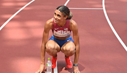 Sydney McLaughlin Gets Big Congrats from Aaron Rodgers After World Record Finish