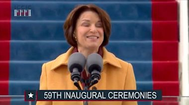 Amy Klobuchar gives stirring speech about Capitol riot as snow fittingly falls on inauguration