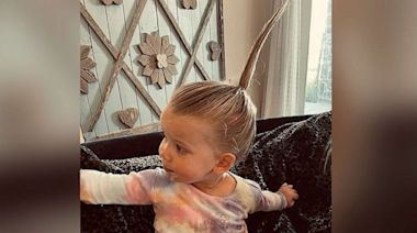 Jessica Simpson shares hilarious hairstyle her son did for her daughter