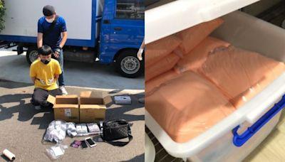 苗栗警赴台中攻堅 破獲「喵喵」毒品果汁包分裝工廠