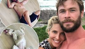 Chris Hemsworth takes sleeping tips from his beloved pooch Sunny
