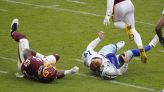 Dallas QB Andy Dalton hurt on a dirty late hit by Washington's Jon Bostic, who was ejected