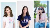 昆凌、Krystal人美心也美 和Ella同穿粉紅小馬公益T恤