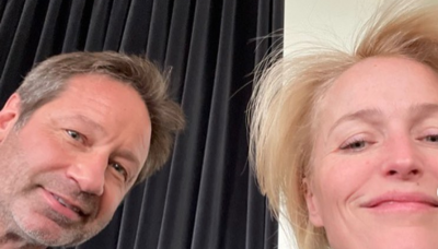 'X-Files' stars David Duchovny and Gillian Anderson reunite and fans are thrilled: 'Can't you just marry already?!'