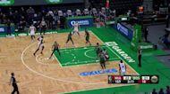 Dewayne Dedmon with an and one vs the Boston Celtics
