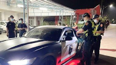 台南環、警、監聯合稽查 強力取締關子嶺深夜改裝噪音車輛滋擾安寧