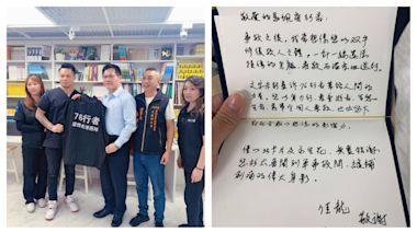 林佳龍感謝「76行者」無償修復遺體 致上親筆信與永生花 | 要聞 | NOWnews今日新聞
