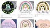 People are buying pins and t-shirts on Etsy that say 'Not a Republican, just vaccinated' now that mask mandates are going away