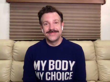 Jason Sudeikis wears 'my body, my choice' jumper at SAG Awards