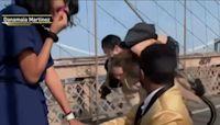 Brooklyn Bridge Proposal Turns Into an NYC Moment Thanks to Bike Crash
