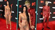 Megan Fox Wows In Nude Sheer Dress & Thong At MTV VMAs With Machine Gun Kelly