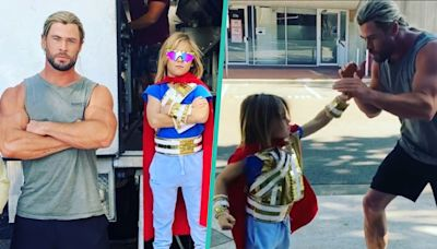 Chris Hemsworth's Son Wears Thor Costume While Getting Boxing Lessons From Dad