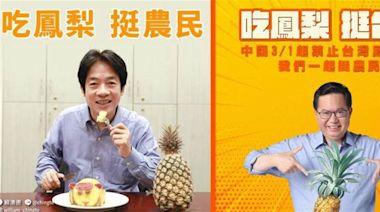 【鳳梨風暴】綠營大咖齊曬「鳳梨長輩圖」 網震驚:中央廚房好快
