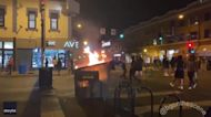 Fires Lit as Protesters Gather in Minneapolis in Wake of Fatal Police Shooting