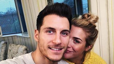 Gemma Atkinson and Gorka Marquez try - and fail - to train their dogs to sleep outside ahead of baby's arrival