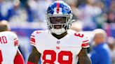 Giants WR Kadarius Toney left Sunday's with ankle injury against Rams