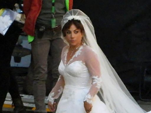 Lady Gaga stuns in wedding dress for 'House of Gucci' — see the pics