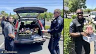 Police deliver Mother's Day flowers after driver arrested for DUI