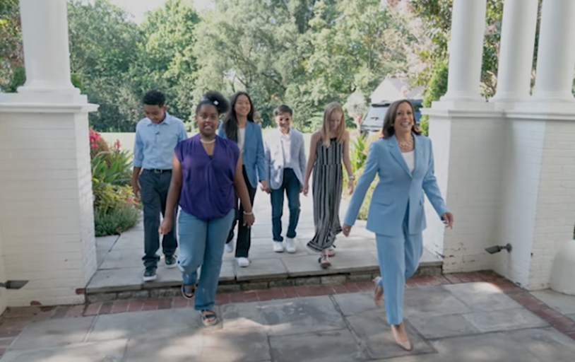 Kamala Harris mocked over space video featuring child actors