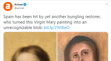 Famous painting of Virgin Mary left unrecognizable after botched art restoration in Spain