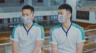 麟洋宣導防疫 影片復刻金牌戰決勝界內球