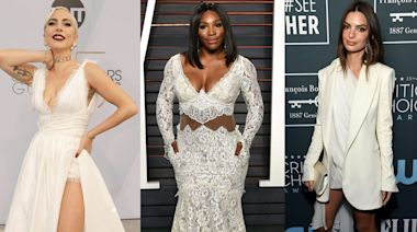 18 times celebrities wore actual wedding dresses on the red carpet
