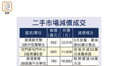 二手樓交投放緩 業主減價求售 三房單位以兩房價賣出