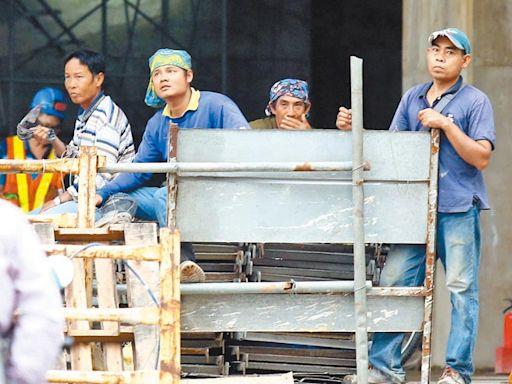 政院拍板 營建移工可增3400名