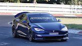 Tesla Model S Plaid with active aero spy shots: New performance upgrade coming?