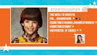 Jennifer Garner posts childhood 'bad hair' photo