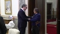 Hollywood actor Johnny Depp meets Serbian president