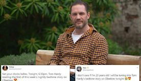Tom Hardy returns to CBeebies Bedtime Stories series